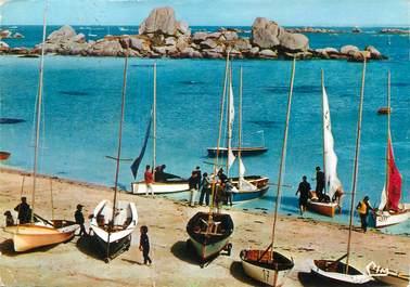 """/ CPSM FRANCE 29 """"Brignonan, la plage et les yachts"""""""