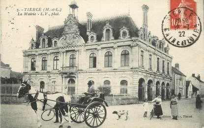 "CPA FRANCE 49 ""Tiercé, la Mairie"""