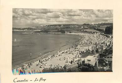 """/ CPSM FRANCE 29 """"Carantec, la plage"""""""