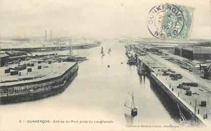 """CPA FRANCE 59 """"Dunkerque, entrée du port prise du Leughenaër"""""""