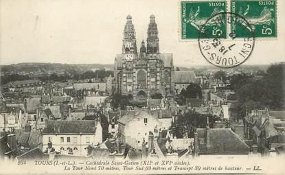 """CPA FRANCE 37 """"Tours, cathédrale Saint Gatien"""""""