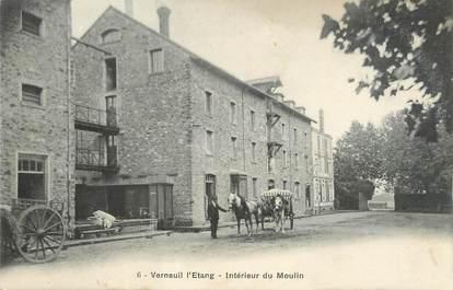 """/ CPA FRANCE 77 """"Verneuil l'étang, intérieur du moulin"""""""