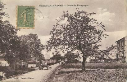 """/ CPA FRANCE 77 """"Veneux Nadon, route de Bourgogne"""