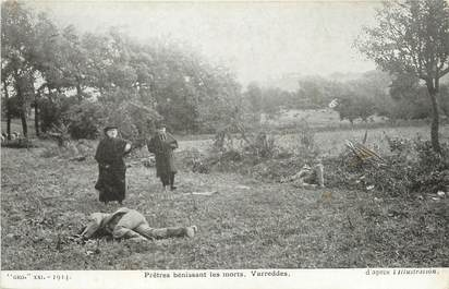 """/ CPA FRANCE 77 """"Varredes, prêtre bénissant les morts"""""""