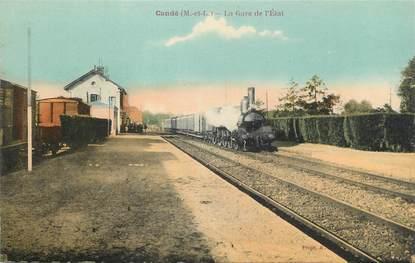 "/ CPA FRANCE 49 ""Candé, la gare de l'Etat"""