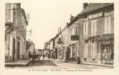"/ CPA FRANCE 46 ""Gramat, avenue de Rocamadour"""