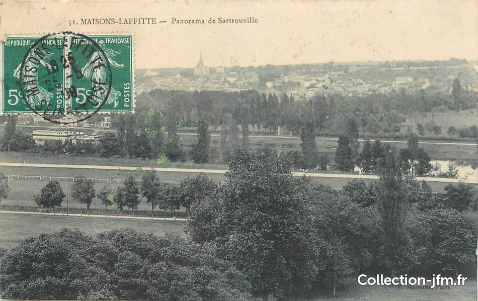 Cpa france 78 maisons laffitte panorama de sartrouville for Agrandissement maison houilles
