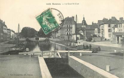"""CPA FRANCE 35 """"Rennes, le quai Saint Cast"""""""