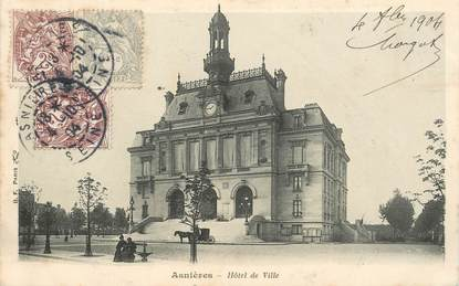 """CPA FRANCE 92 """"Asnières, Hotel de ville"""""""