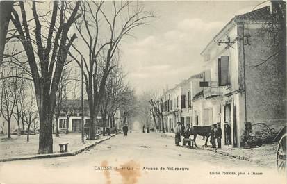 """/ CPA FRANCE 47 """"Dausse, av de Villeneuve"""""""