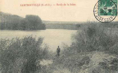 """CPA FRANCE 78 """"Sartrouville, les bords de la Seine"""""""