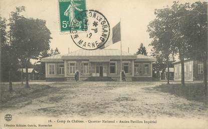 "CPA FRANCE 51 ""Châlons, au camp, quartier national"""