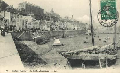 """CPA FRANCE 50 """"Granville, le port à marée basse"""""""