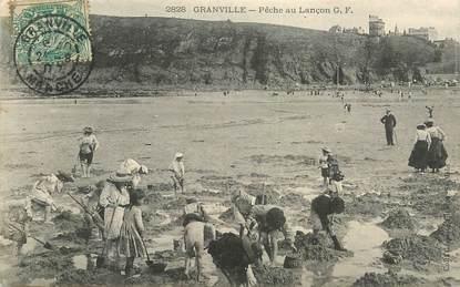 """CPA FRANCE 50 """"Granville, la pêche au Lançon"""""""