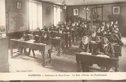 """/ CPA FRANCE 56 """"Ploërmel, institution du Sacré Coeur"""" / ECOLE"""