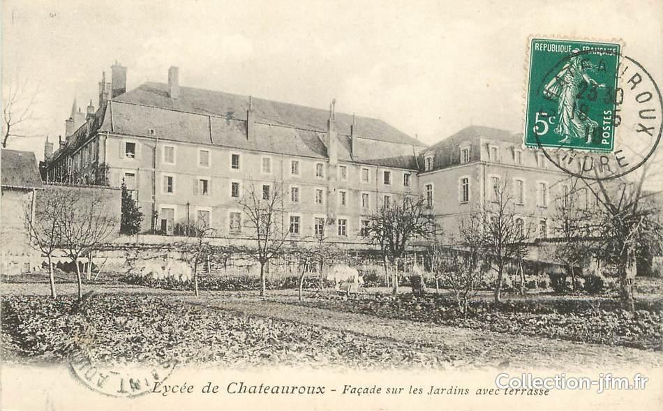 cpa france 36 lyc e de chateauroux les jardins 36 indre chateauroux 36 ref 109923. Black Bedroom Furniture Sets. Home Design Ideas