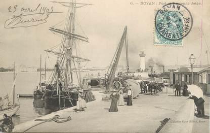 """CPA FRANCE 17 """"Royan, le port et l'ancienne jetée"""""""