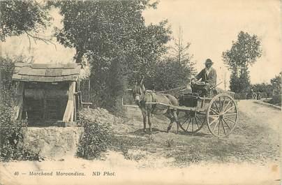 "/ CPA FRANCE 58 ""Marchand Morvandieu' / ÂNE"