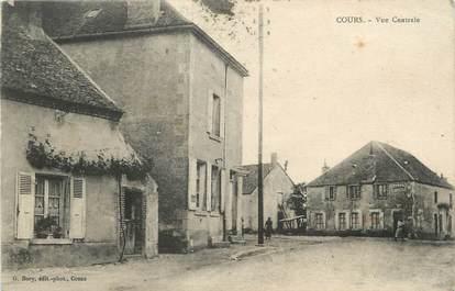 "/ CPA FRANCE 58 ""Cours, vue centrale"""