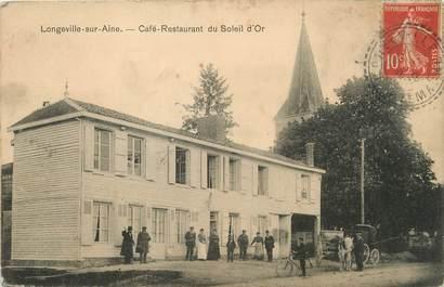 """/ CPA FRANCE 52 """"Longeville sur Aine, café restaurant du Soleil d'Or"""""""