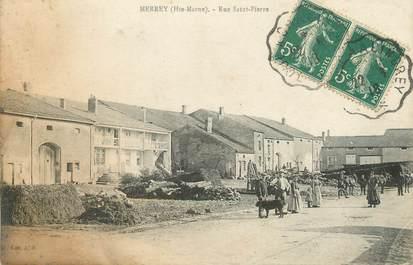 "/ CPA FRANCE 52 ""merrey, rue Saint Pierre"""