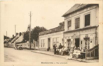"/ CPA FRANCE 60 ""Hondainville, rue principale"""