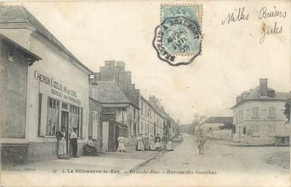 "/ CPA FRANCE 60 ""La Villeneuve le Roy, grande rue"""