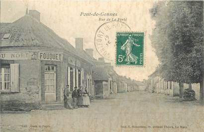 """/ CPA FRANCE 72 """"Pont de Gennes, rue de la Ferté"""""""