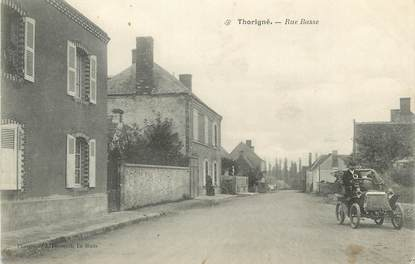"/ CPA FRANCE 72 ""Thorigné, rue Basse"""