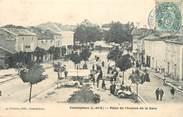"""47 Lot Et Garonne CPA FRANCE 47 """"Casteljaloux, place de l'avenue de la gare"""""""