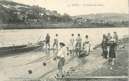 """CPA FRANCE 47 """"Agen, la Pêche aux Aloses"""""""