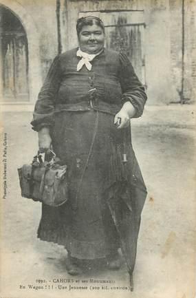 """CPA FRANCE 46 """"Cahors, une femme obèse"""""""