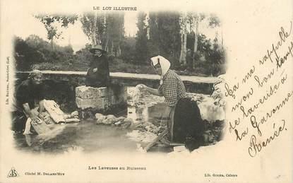 """CPA FRANCE 46 """"Le Lot illustré, les laveuses au ruisseau"""""""""""