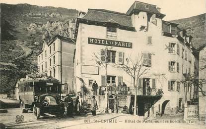"""CPA FRANCE 48 """"Sainte Enimie, Hotel de Paris"""" / AUTOBUS"""