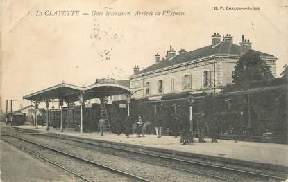"""/ CPA FRANCE 71 """"La Clayette, gare intérieure"""""""