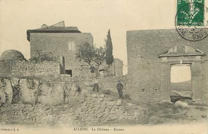 """CPA FRANCE 13 """"Alleins, le chateau, et ses ruines"""""""