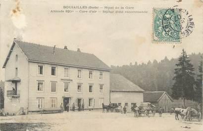 """/ CPA FRANCE 25 """"Boujailles, hôtel de la gare"""""""