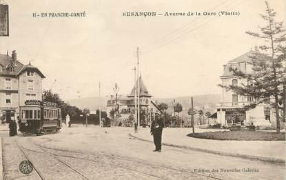 "/ CPA FRANCE 25 ""Besançon, av de la gare"""