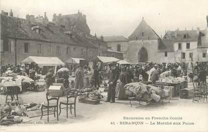 """/ CPA FRANCE 25 """"Besançon, le marché aux puces"""""""