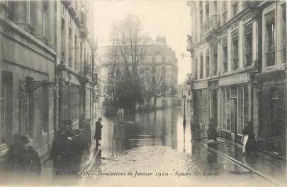 "/ CPA FRANCE 25 ""Besançon, Square Saint Amour"" / INONDATIONS"