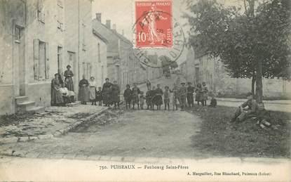"""CPA FRANCE 45 """"Puiseaux, Faubourg Saint Pères"""""""