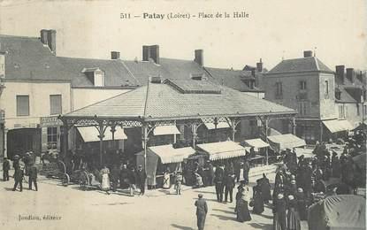 """CPA FRANCE 45 """"Patay, place de la Halle"""""""