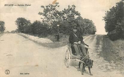 """CPA FRANCE 45 """"Briare, le service postal en voiture à chien"""""""