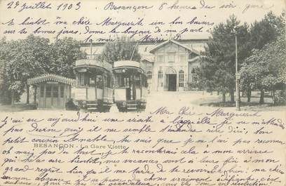 """/ CPA FRANCE 25 """"Besançon, la gare Viotte"""" / TRAMWAY"""