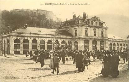 """/ CPA FRANCE 25 """"Besançon les Bains, gare de Mouillère"""""""