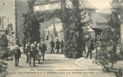 """CPA FRANCE 45 """"Ascoux, inauguration de la mairie et de l'Ecole"""""""