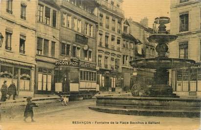 Cpa france 25 besan on fontaine de la place bacchus for 25 besancon