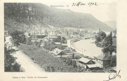 "/ CPA FRANCE 25 ""Besançon, usine à gaz, vallée de Casamène"""