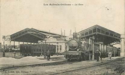 """CPA FRANCE 45 """"Les Aubans Orléans, la gare"""" / TRAIN"""