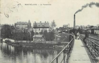 """/ CPA FRANCE 25 """"Montbéliard, la passerelle"""""""